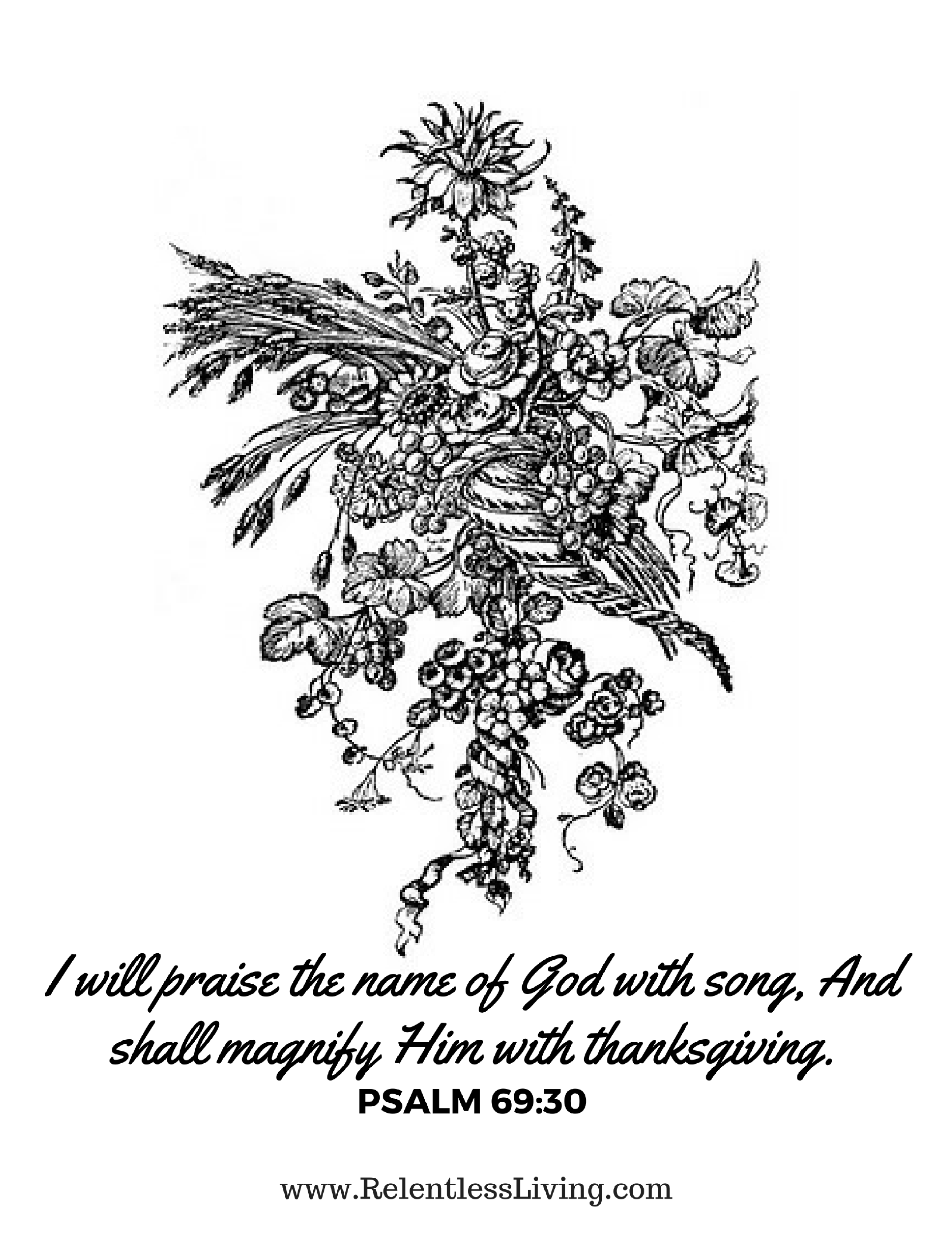 A Free Thanksgiving Coloring Page – Relentless Living